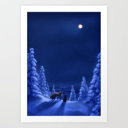 Polar Nights Art Print