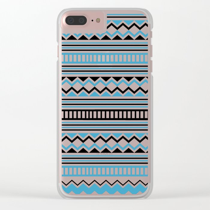 Tribal Scarf Clear iPhone Case