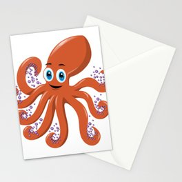 Happy Octopus Stationery Cards