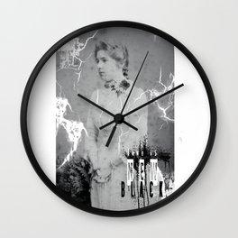 Victorian Love is New Black Wall Clock