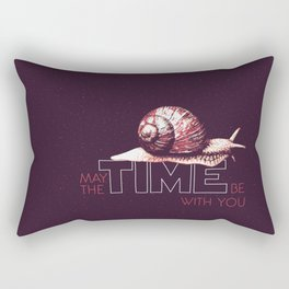 May The TIME Be With You Rectangular Pillow