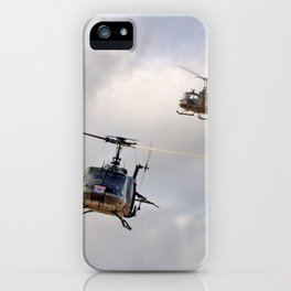 Bell UH-1 Iroquois Helicopters - (A Pair of Hueys) iPhone Case