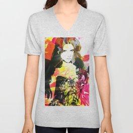 Flowerwoman  Unisex V-Neck