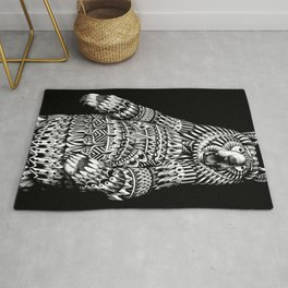 Ornate Grizzly Bear Rug
