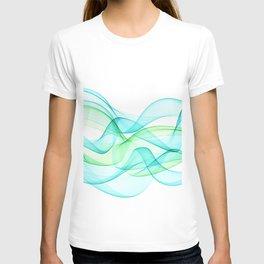 Sea Wave Pattern Abstract Aqua Blue Green Waves T-shirt