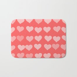 Cute Hearts Bath Mat