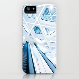 Modern interior with stairs iPhone Case