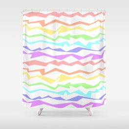 Rainbow stripes, gay pride waves Shower Curtain