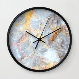 Grey & Gold Marble Wall Clock
