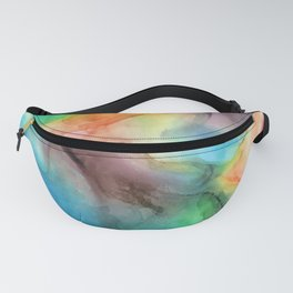 Colorful watercolor abstraction Fanny Pack