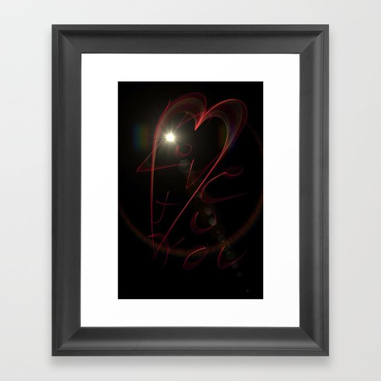 Love To You Framed Art Print