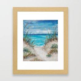 Sea Path Framed Art Print