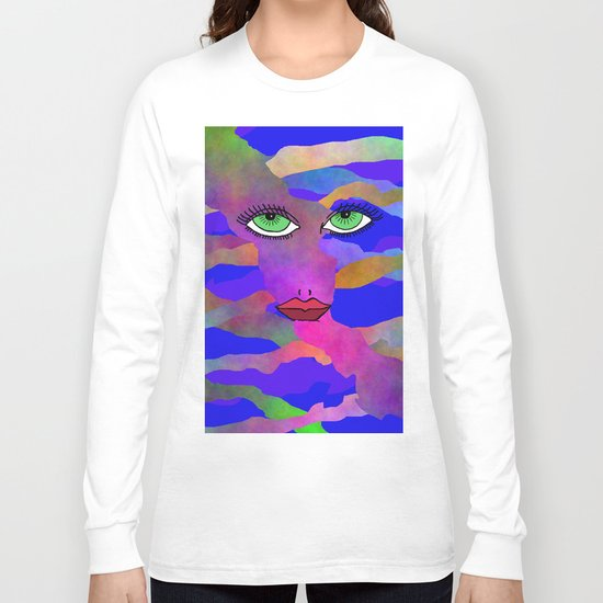 Eyes and Lips Colorful Long Sleeve T-shirt
