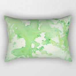 paint splatters in shades of green Rectangular Pillow