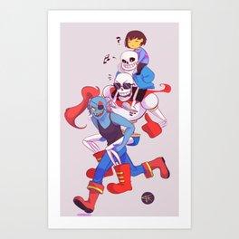 Undertale's squad Art Print