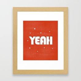 Yeah modern typography Framed Art Print