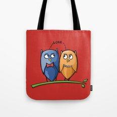 Owl Love red Tote Bag