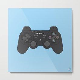 PS3 Controller Metal Print