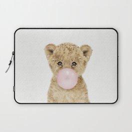 Bubble Gum Lion Cub Laptop Sleeve