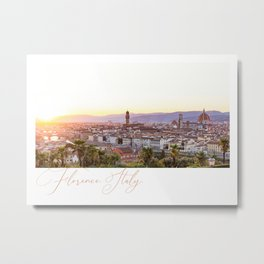 Florence. Italy. Metal Print