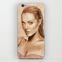 angelina jolie iPhone & iPod Skins featuring Angelina Jolie by Renato Cunha
