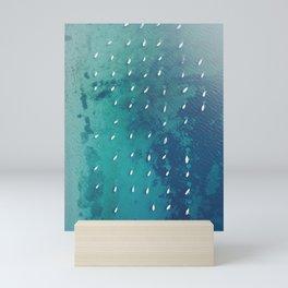 Boats on the Ocean Mini Art Print