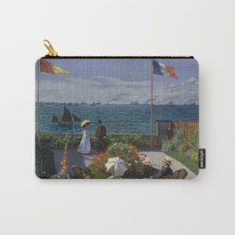 Claude Monet - Garden at Sainte-Adresse (1867) Carry-All Pouch