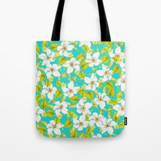 White Floral #society6 #decor #pattern Tote Bag