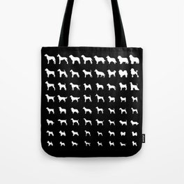 All Dogs (Black) Tote Bag