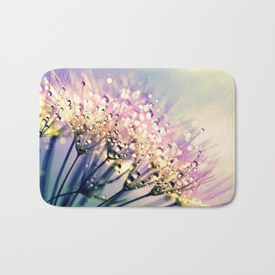 Pastel Dandelion Dew Bath Mat