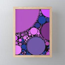 melissa redux: magenta grape purple abstract design Framed Mini Art Print