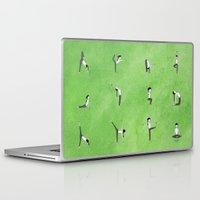 namaste Laptop & iPad Skins featuring Namaste. by Robyn Smith