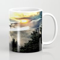 mountains Mugs featuring Sunrise mountains by 2sweet4words Designs