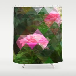 Pink Roses in Anzures 5 Art Triangles 1 Shower Curtain