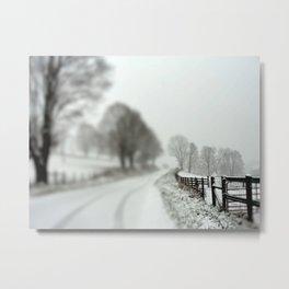 cold fence Metal Print