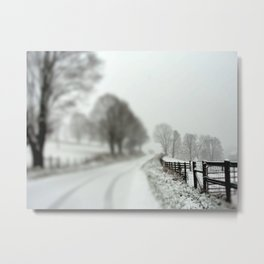 cold fence Metal Print