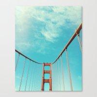 bridge Canvas Prints featuring bridge by Laura Moctezuma