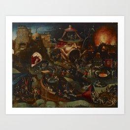 CHRIST IN LIMBO - HIERONYMUS BOSCH  Art Print