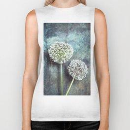 Allium Flowers Biker Tank