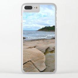 Ocean Rocks Clear iPhone Case