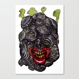 Heads of the Living Dead Zombies: Spore Zombie Canvas Print