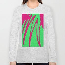 Green Pink Pattern Long Sleeve T-shirt