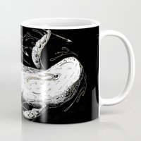 moby dick Mugs featuring Moby-Dick. The Whale by pakowacz