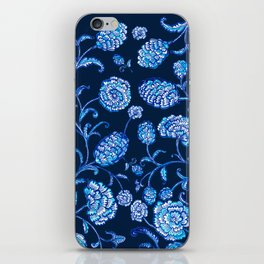 Blue & White Florals by Fanitsa Petrou iPhone Skin