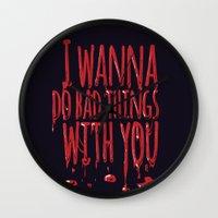true blood Wall Clocks featuring True Blood  by Lita Rebello