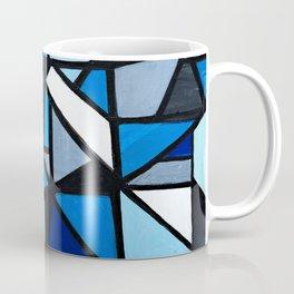Blue Geometric Coffee Mug