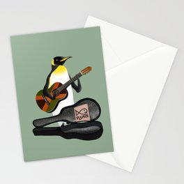 Penguin Busking Stationery Cards