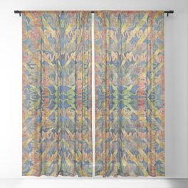 Inchworms West By Southwest Sheer Curtain
