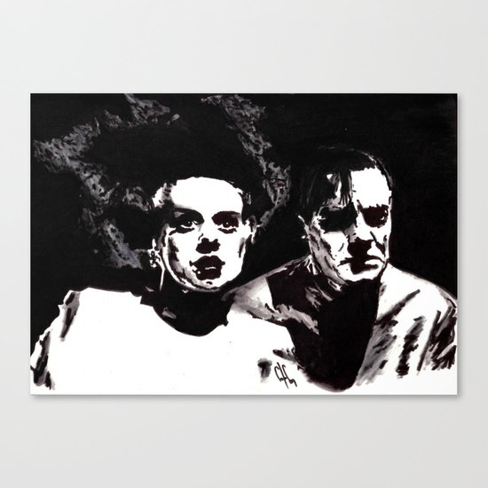 Dr Frankenstein and the Bride of the Monster Canvas Print