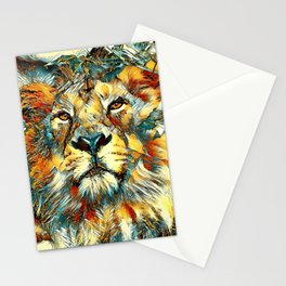 AnimalArt_Lion_20170607_by_JAMColorsSpecial Stationery Cards